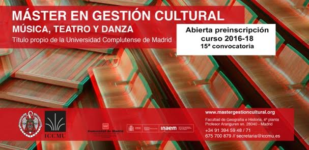 master Gestion Cultural